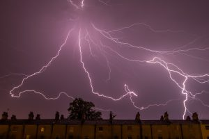Heavy storm with lightning